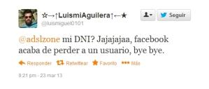 Tweet de @luismiguel0101 sobre Facebook exigirá DNI