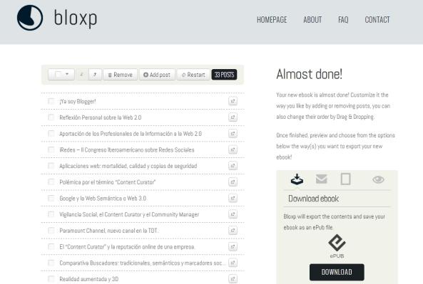 Bloxp - El Content Curator