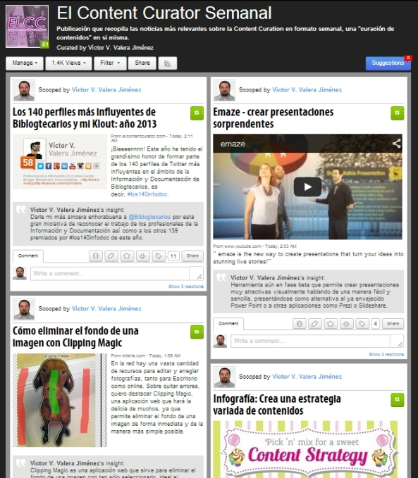 El Content Curator Semanal en Scoop.it