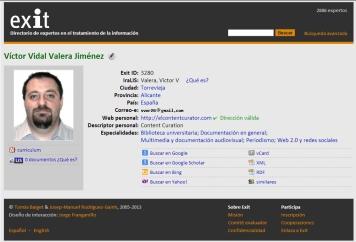 Ficha Exit Víctor V. Valera