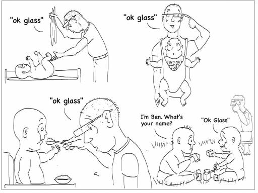 Google Glass Cartoon