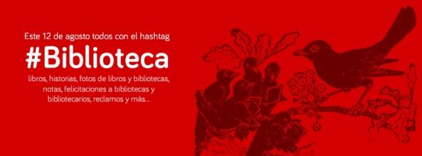 Hashtag #biblioteca 12 de Agosto