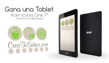 Sorteo Tablet Acer Iconia One 7""